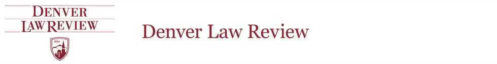 Denver Law Review