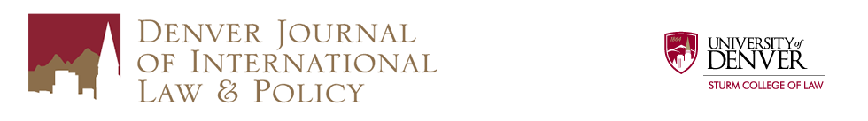 Denver Journal of International Law & Policy